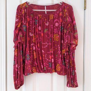 Free People Wildflower Honey Blouse, size Small